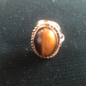 Tigers eye adjustable ring.